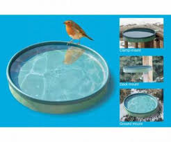 Heated Bird Baths For Mounting To Deck Rail Fence