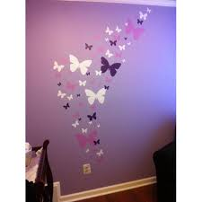 Butterfly Wall Decals Lavender Lilac White Beautiful Butterfly Wall Stickers For Girls Room Decor Walmart Com Walmart Com