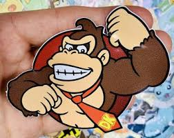 Donkey Kong Sticker Etsy