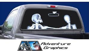 Vehicle Graphics Rear Window Graphics X Ray Custom Truck Or Suv Rear Window Graphic By Adventure Graphics