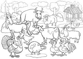 Boerderij Dieren Cartoon Voor Coloring Boek Premium Vector