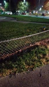 This Little Tiny Fence Put Up Around The Helipad At Work Field Fence Sidewalk