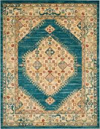 nourison traditional antique trq03 teal