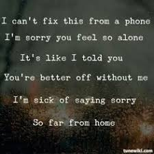 far from home hinder lyrics songs and singers
