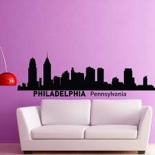 Amazon Com Philadelphia Skyline Wall Decal Vinyl Sticker Pennsylvania City Silhouette Wall Decals Vinyl Stickers Home Decor Living Room Office C012 Kitchen Dining
