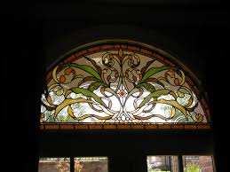 leaded stained glass art nouveau style