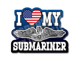 I Love My Submariner Decal United States Sub Dolphins Silent Etsy
