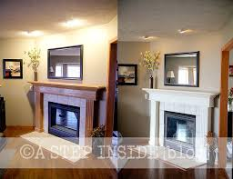 fireplace mantel before after