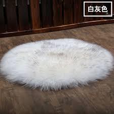 round australia white sheepskin rug