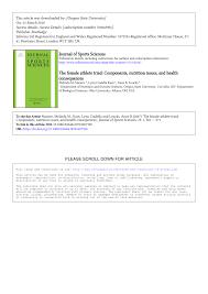 pdf the female athlete triad