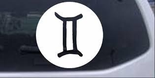 Gemini Zodiac Sign Car Or Truck Window Decal Sticker Rad Dezigns