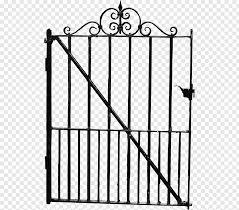 Gate Fence Black Fence Png Pngwave