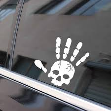 1302087684 15 5 13 9cm Coolest Hand Skull Fun Car Stickers Motorcycle Vinyl Accessories Graphic Automobiles Motorcycles Exterior Accessories