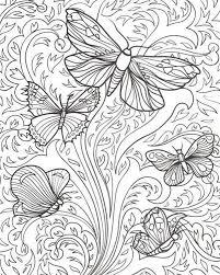 Kleuren Voor Volwassenen Vlinders Abstracte Kleurplaten