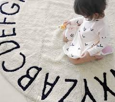 Lorena Canals Washable Abc Round Modern Kids Rug Pottery Barn Kids