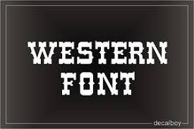 Western Decals Stickers Decalboy