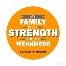 my family is my strength and my weakness t shirt aishwarya rai