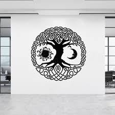Moon And Sun Tree Of Life Vinyl Wall Stickers Home Interior Decor Living Room Nature Tree Wall Decal Art Mural Wall Poster Decals For The Wall Decals For The Walls From Onlinegame