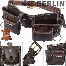 oil tanned leather tool belt work pouch