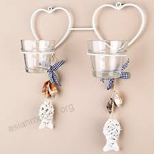 tobs hanging glass tea light candle