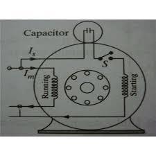 capacitor start motors diagram
