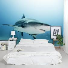 Caribbean Reef Shark Wall Mural Shark Wall Sticker Wallums