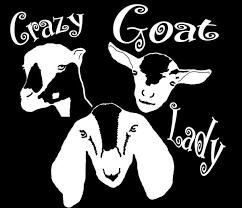 White Vinyl Crazy Goat Lady Window Decal 5 25 Inches X 5 Inches Vinyl Window Decals Window Vinyl Vinyl Decals