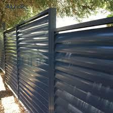 China Horizontal Aluminium Slat Fence For Garden China Slat Fence Aluminium Fence