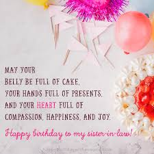 ways to say happy birthday sister in law the only list you