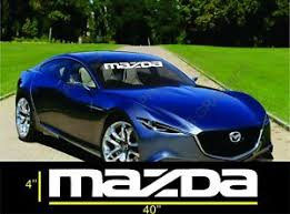 Mazda Banners Windshield Decals Vinyl Car Stickers Ebay