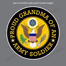 Proud Grandma Of An Army Soldier Bumper Sticker Car Window Decal
