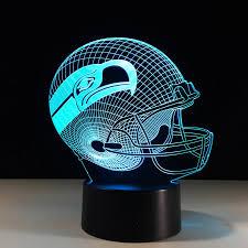 Novelty Nfl Seattle Seahawks Football Helmet Illusion Led Night Light Colorful Touch 3d Desk Lamp For Bedroom Decor Gifs 3d Desk Lamp Led Night Lightnight Light Aliexpress