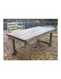 rustic garden table sustainable furniture