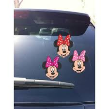 Disney 02 01 Minnie Mouse Bow Car Window Vinyl Decal Sticker