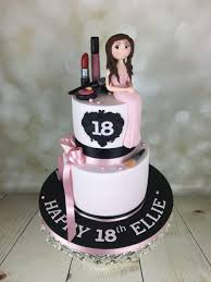 18th birthday cake with mac makeup
