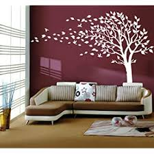 Amazon Com Large Tree Blowing In The Wind Tree Wall Decals Wall Sticker Vinyl Art Kids Rooms Teen Girls Boys Wallpaper Murals Sticker Wall Stickers Nursery Decor Nursery Decals White Left Home Kitchen