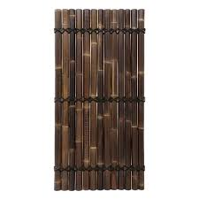 Half Round Black Bamboo Fence Screen 100 X 180 Cm
