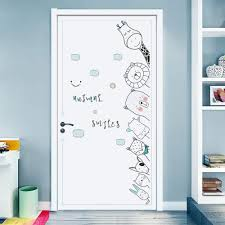 Amazon Com Dktie Wall Stickers Decals For Kids Room Bedroom Baby Room Wall Decor Sticker Cute Animal Door Sticker Arts Crafts Sewing