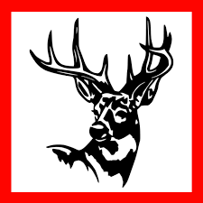 Deer In Crosshairs Vinyl Decal Sticker Hunting White Tail Gun Country Camo Truck