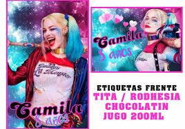 Stickers Banderin Personalizados Harley Quinn Suicide Squad