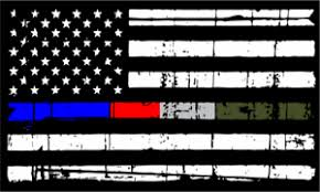 Thin Blue Line Decal Police Fire Corrections Military Distressed Flag Decal Ebay