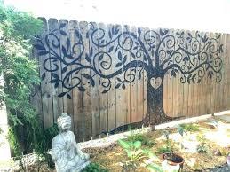 outdoor iron wall art