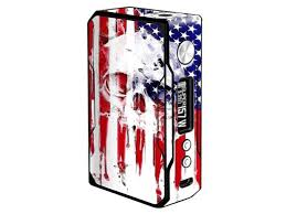 Skin Decal Vinyl Wrap For Voopoo Drag 157w Tc Resin Reg Vape Mod Stickers Skins Cover U S A Flag Skull Drip Newegg Com