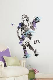 Women S Lacrosse Champion Peel And Stick Giant Wall Decals Walldecals Com
