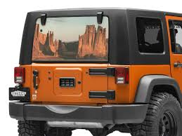 Sec10 Jeep Wrangler Perforated Canyon Rear Window Decal J130875 87 21 Jeep Wrangler Yj Tj Jk Jl