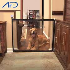 Breathable Mesh Dog Fence Magic Pet Gate Barrier Safe Guard Enclosure Indoor Outdoor Portable Folding Dogs Pet Isolation Network Aliexpress