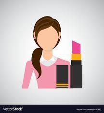 makeup design royalty free vector image