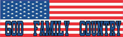 10in X 3in God Family Country United States Flag Bumper Sticker Decals Stickers Decal Stickertalk