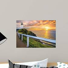 Amazon Com Wallmonkeys Sunrise At Cape Byron Horizontal Frame Wall Decal Peel And Stick Graphic Wm361691 18 In W X 13 In H Home Kitchen