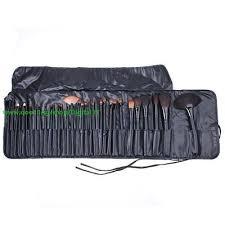 32 pcs makeup brush set black pouch bag